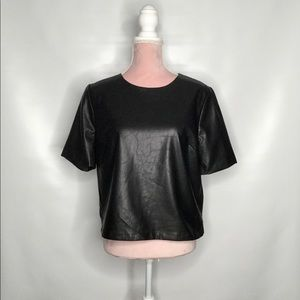 Forever 21 vegan leather top